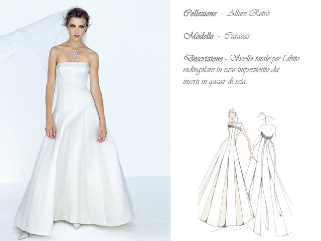 Claraluna collezione 2014 allure retro abito sposa modello caracas