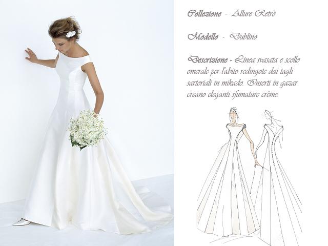 Claraluna collezione 2014 allure retro abito sposa modello dublino