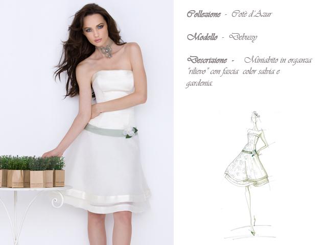 Claraluna collezione 2014 cote azur abito sposa modello debussy