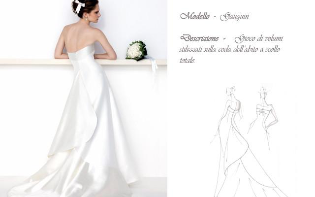 Claraluna collezione 2014 cote azur abito sposa modello gaugain