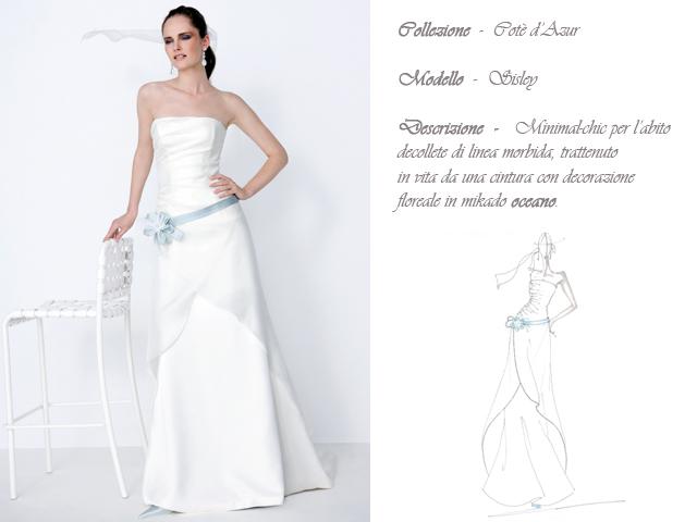 Claraluna collezione 2014 cote azur abito sposa modello sisley