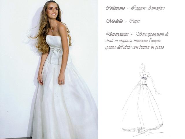Claraluna collezione 2014 leggere atmosfere abito sposa modello capri