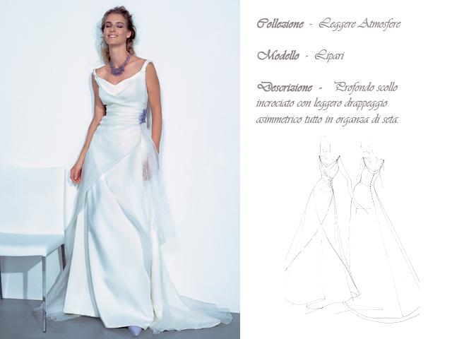 Claraluna collezione 2014 leggere atmosfere abito sposa modello lipari