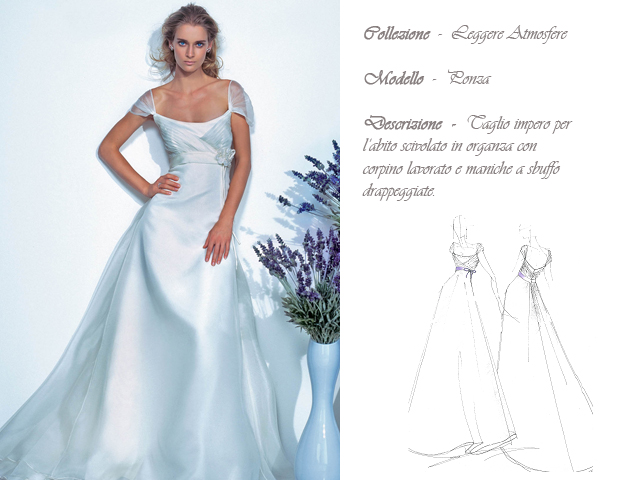 Claraluna collezione 2014 leggere atmosfere abito sposa modello ponza