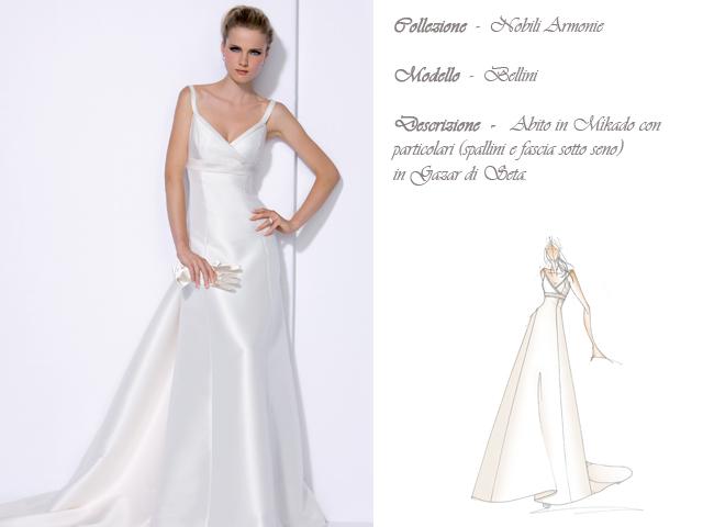 Claraluna collezione 2014 nobili armonie abito sposa modello bellini