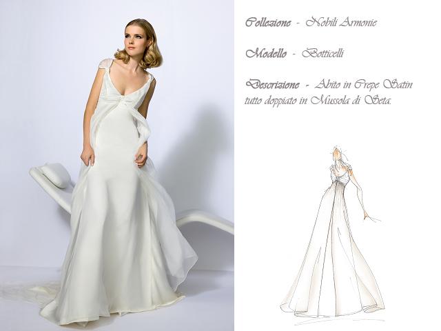 Claraluna collezione 2014 nobili armonie abito sposa modello botticelli