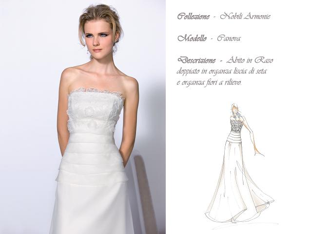 Claraluna collezione 2014 nobili armonie abito sposa modello canova