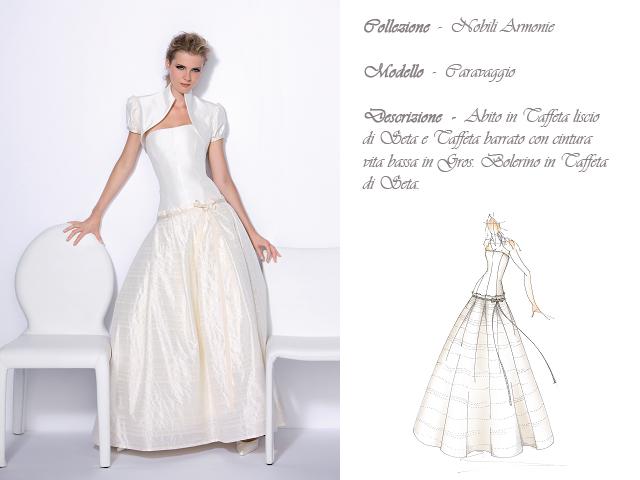 Claraluna collezione 2014 nobili armonie abito sposa modello caravaggio