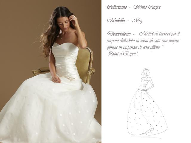 Claraluna collezione 2014 white carpet abito sposa modello meg