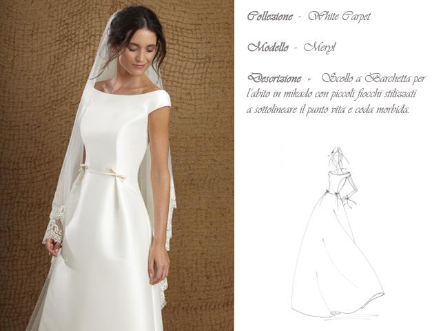 Claraluna collezione 2014 white carpet abito sposa modello merpl