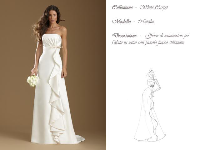 Claraluna collezione 2014 white carpet abito sposa modello natalie