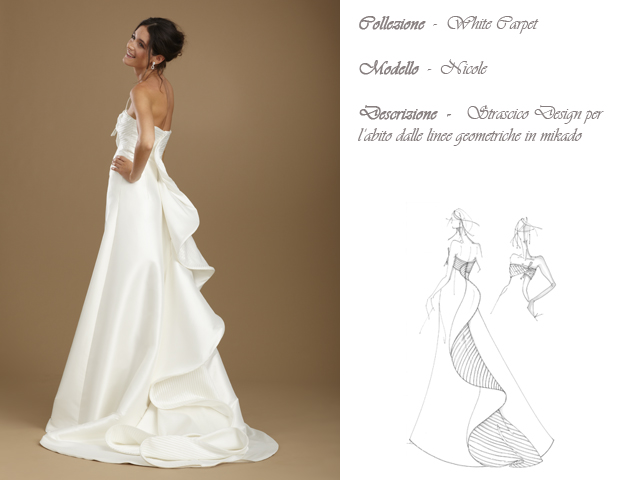 Claraluna collezione 2014 white carpet abito sposa modello nicole