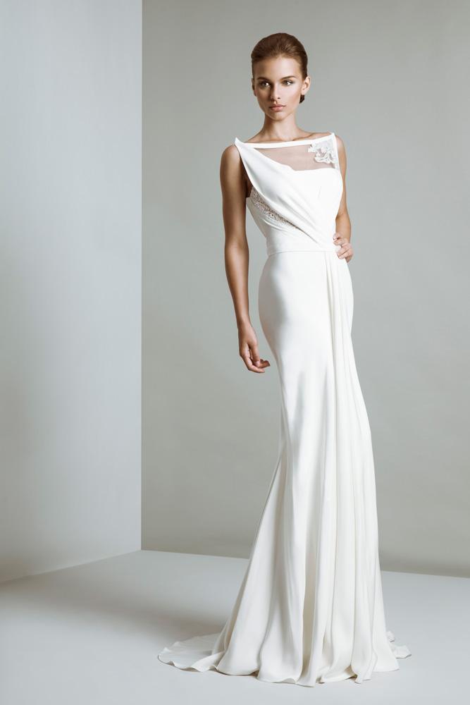 Favoloso Tony Ward collezione 2014 Bridal abiti sposa modello bianca  MM31