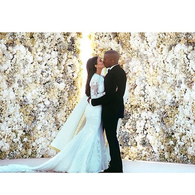 Kim Kardashian Kanye West foto matrimonio