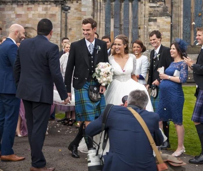 Matrimonio In Kilt : Il tennista andy murray e la fidanzata storica kim sears