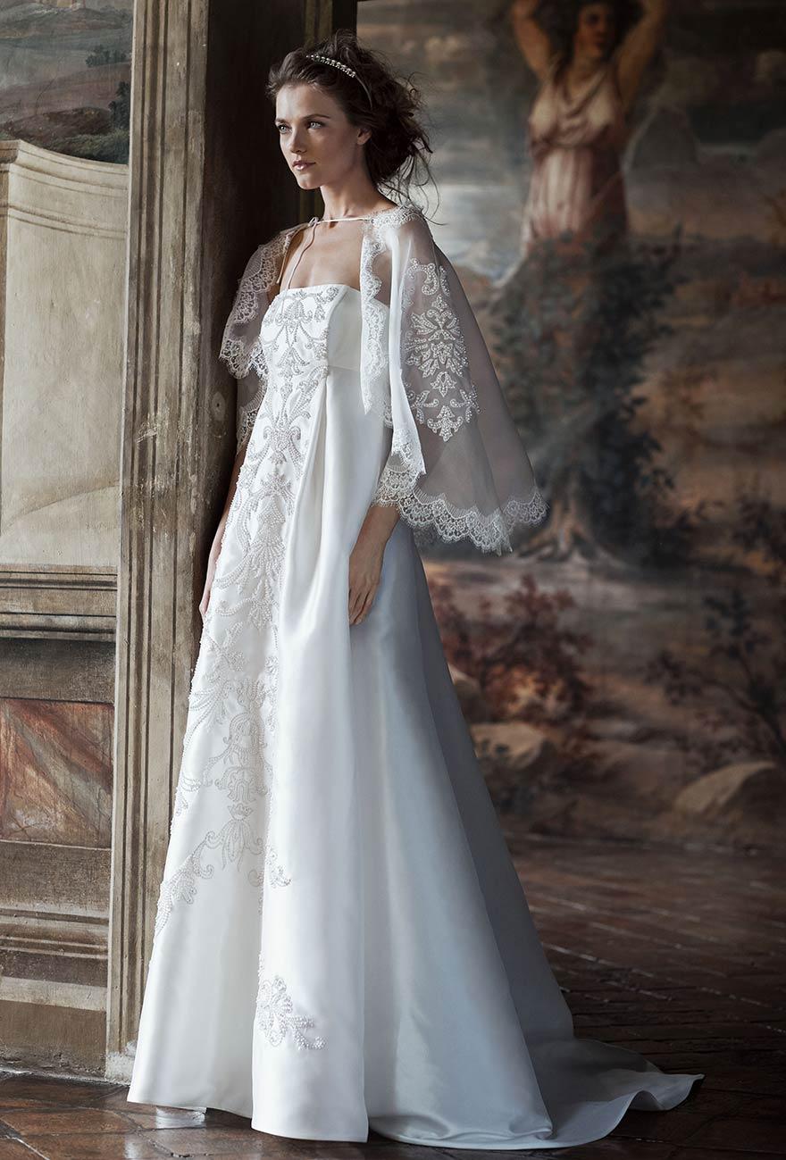 Alberta Ferretti collezione Forever 2016 abito sposa Tiche  3d338a68d56