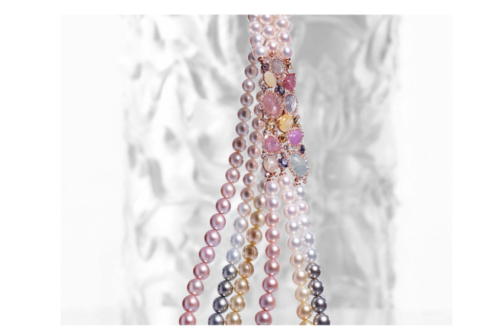 Gioielleria Soprana collana perle e zaffiri Crivelli