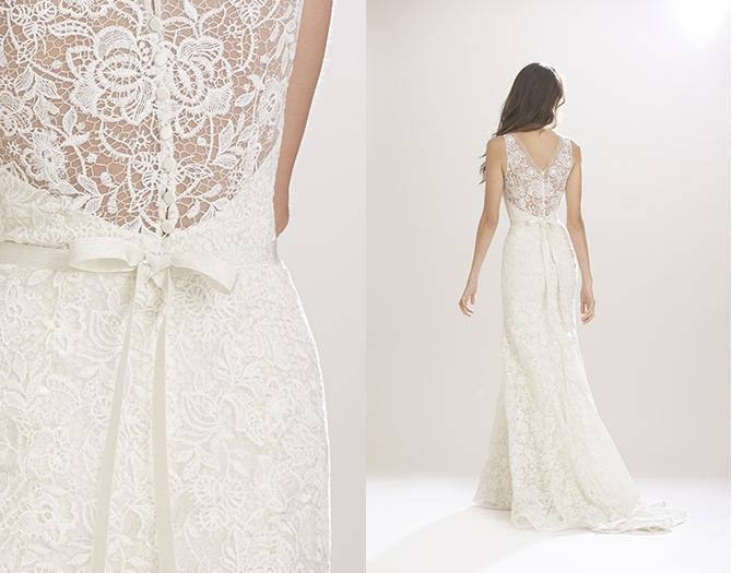 7ee1b6af1a4d Carolina Herrera collezione Fall Winter 2016 abiti sposa modello Manon1