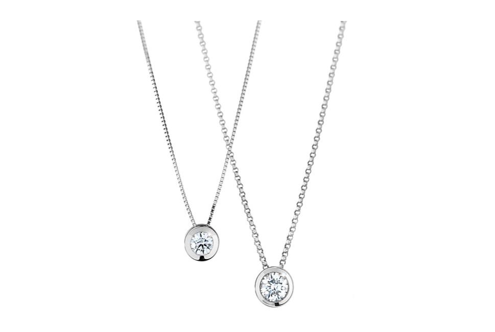 Gioielleria Soprana pendente punto luce collezione pura World Diamond Group WDG