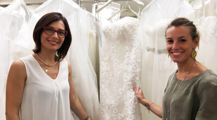 Nozze Tania Cagnotto prove abito sposa Alessandra Rinaudo Flagship Store Nicole Milano (3)