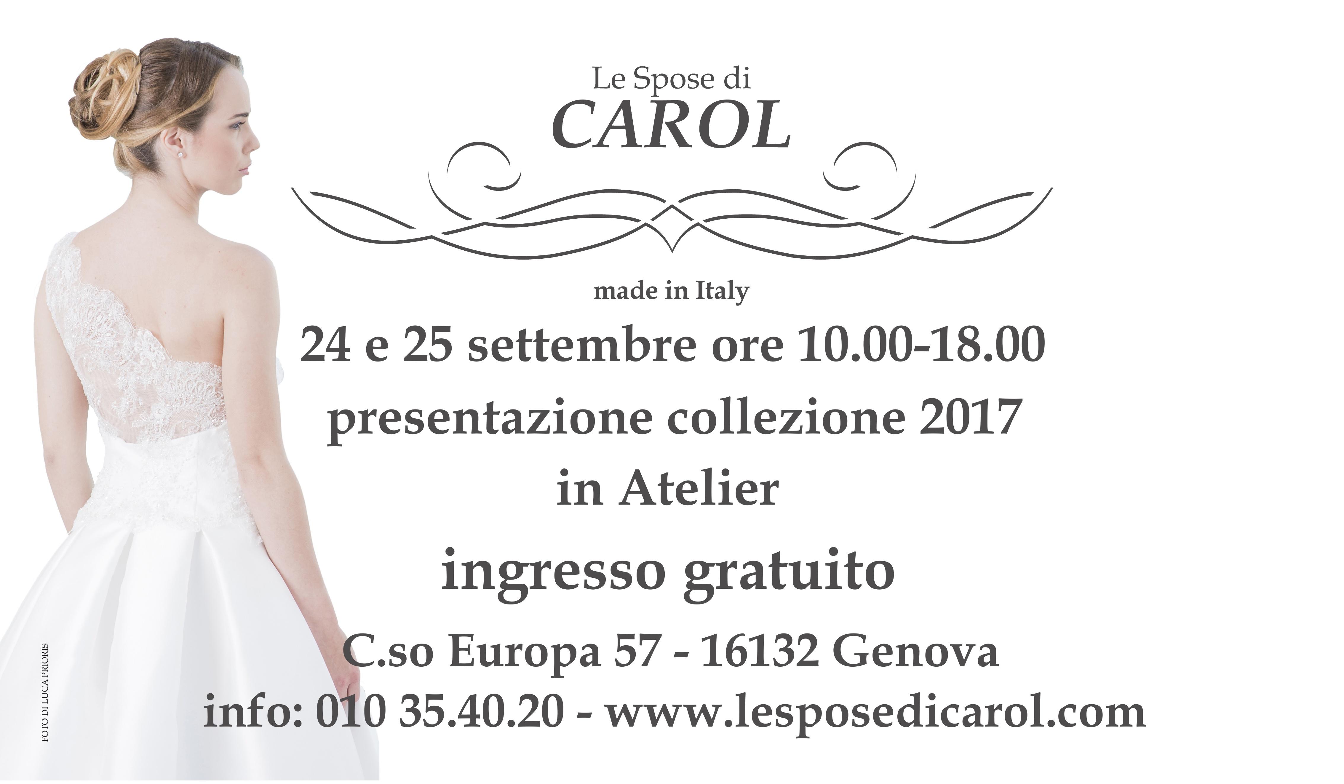 2d8795b30e Le Spose di Carol : la presentazione in atelier della nuova collezione 2017