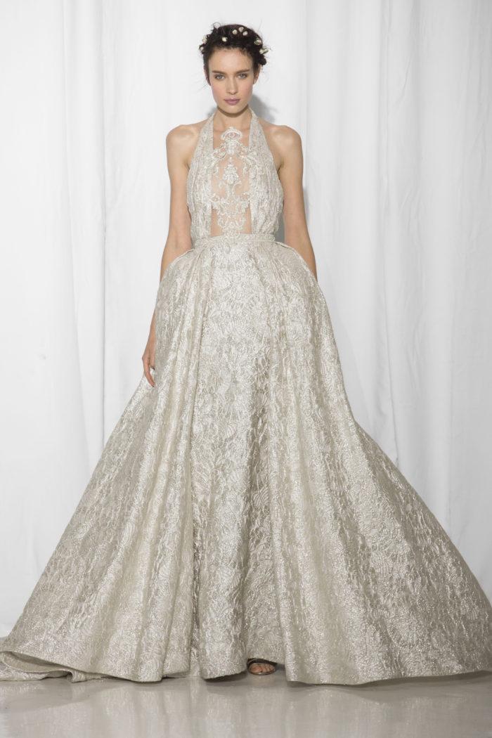 abito-sposa-Reem Acra-2017-modello-look 19-Couture