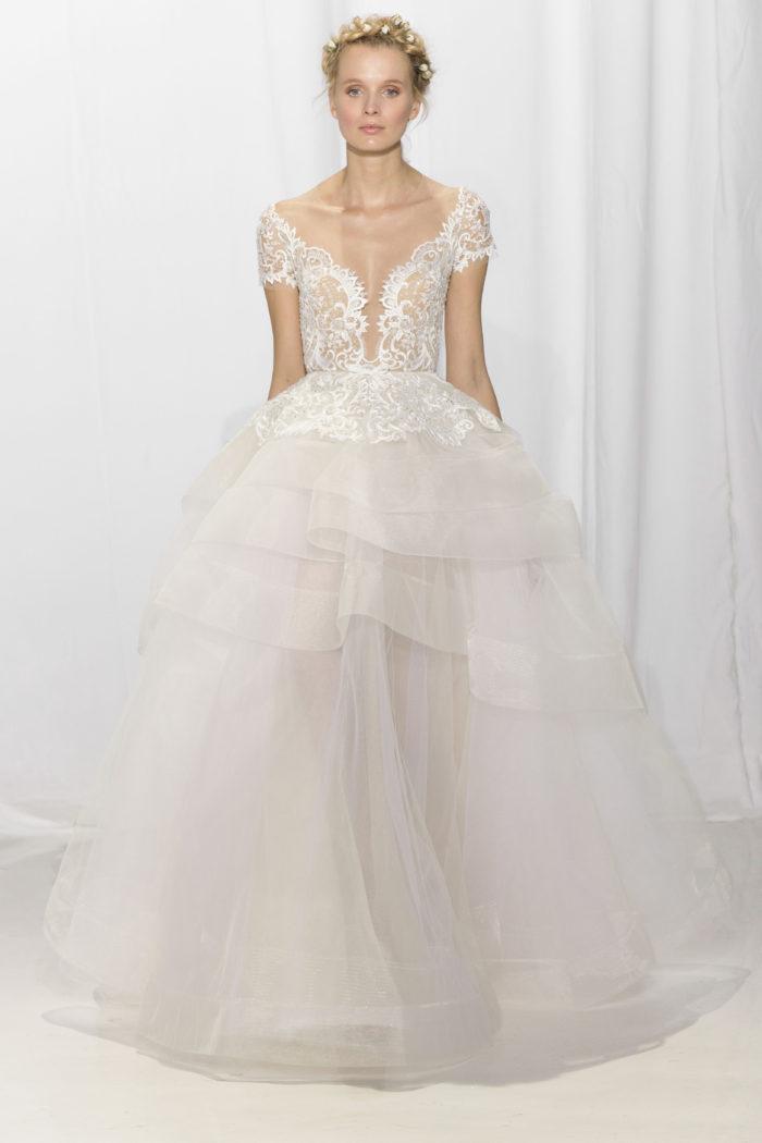 abito-sposa-Reem Acra-2017-modello-look 22-Maya