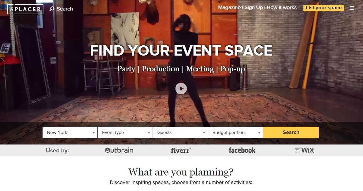 Splacer location nozze eventi Airbnb