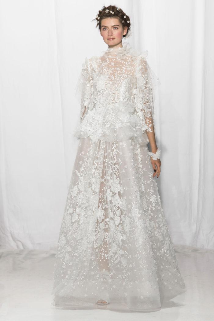 abito-sposa-Reem Acra-2017-modello-look 28-couture